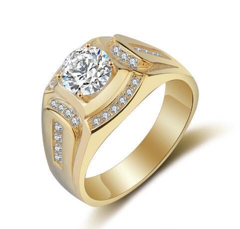 Best Buy feine Marke Hochzeit Ringe für Männer 925 Sterling Silber Ring CZ Diamond Engagement Charm Man Schmuck Ring