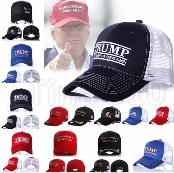Trump Baseball Hats 7 Farben Donald Trump 2020 machen Amerika groß wieder Cap Stickerei Sport Hysteresenhut Party Hüte 4746