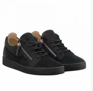 cuero de grano de cocodrilo negro envío de la alta calidad de los zapatos de los hombres y de las mujeres, de alto nivel a zapatillas de deporte chaoliu070122