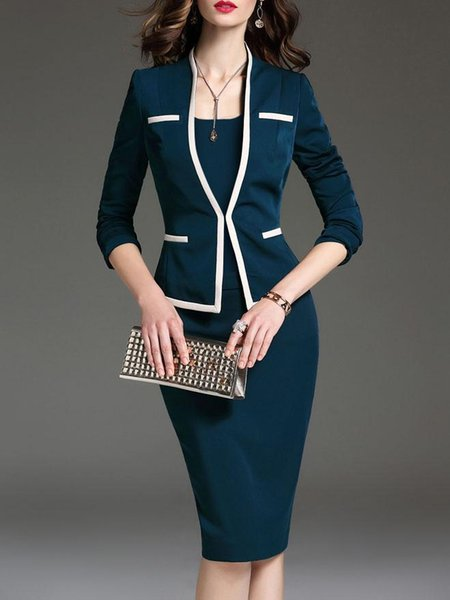 Autumn dress suit explosion and knee long skirt, waistband and hip slimming professional suit sexy and nice office leader need