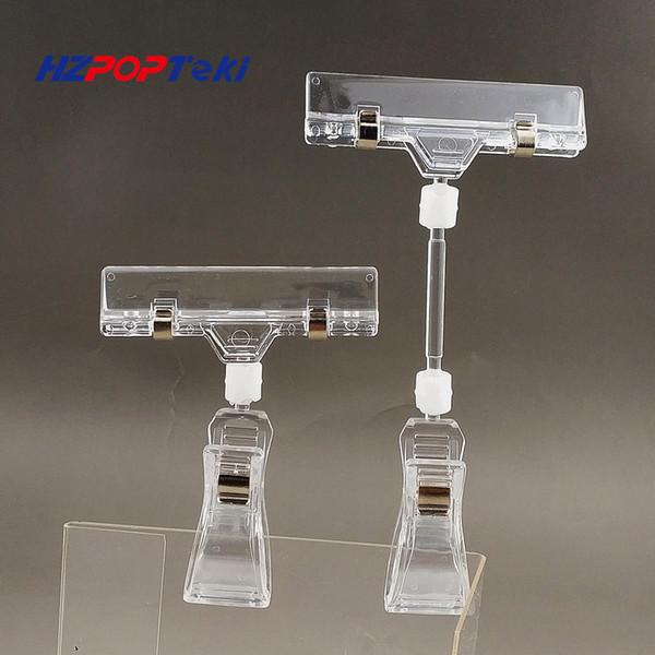 POP Plástico Rotatable Price Sign Memo Cartão de Exibição de Publicidade de Papel Titular Clipe Com Revestimento De Borracha Na Loja de Varejo 20 pcs