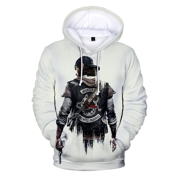 Hot Sale Sandbox Game Days Gone 3D Hoodies Men Women Autumn/Winter Men's Leisure Printed Days Gone 3D Hoodies Sweatshirt