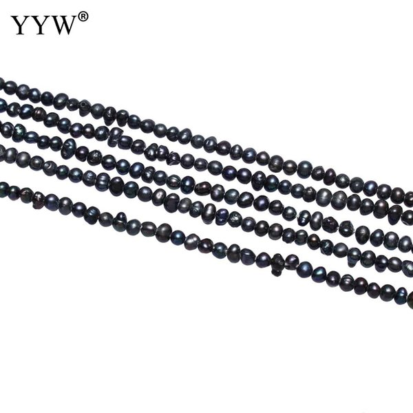 Cultured Baroque Freshwater Pearl Beads Nuggets Black 2.8-3.2mm Small Loose Pearl For Handmade Birthday Jewelry Gift Accessory
