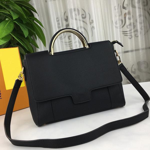 Classico di alta qualità di lusso originale pelle bovina lychee borse modello di progettazione Crossbody bag Zip lock Clamshell pacchetti Joker alla moda