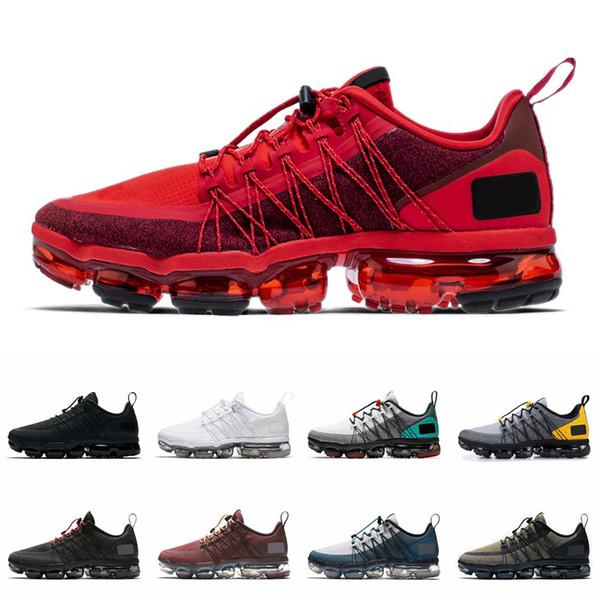 2019 Run Utility Zapatillas de deporte para hombre Zapatillas de deporte Triple Blanco Negro Rojo Medio verde oliva Borgoña Crush Designer Chaussures Sports Sneaker