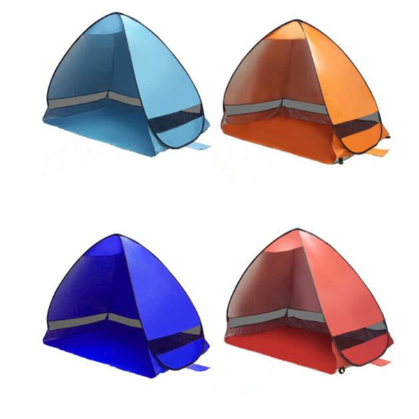 For 2-3 Person Camping Tent Outdoor Sun Shade Hiking Beach Tent Automatic Portable Pop Up Beach Tent CTS001