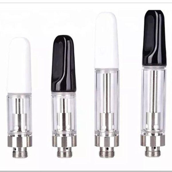 top popular Empty Vape Pen TH205 Cartridges 1ml Ceramic Glass foam Thick Oil Dab Pen Wax Vaporizer Carts Atomizer E Cigarette 510 Thread Battery 2021