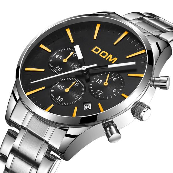 Reloj de marca para hombre relojes Reloj multifuncional de cuarzo fabricado en china moda mk relojes 42mm reloj impermeable al por mayor