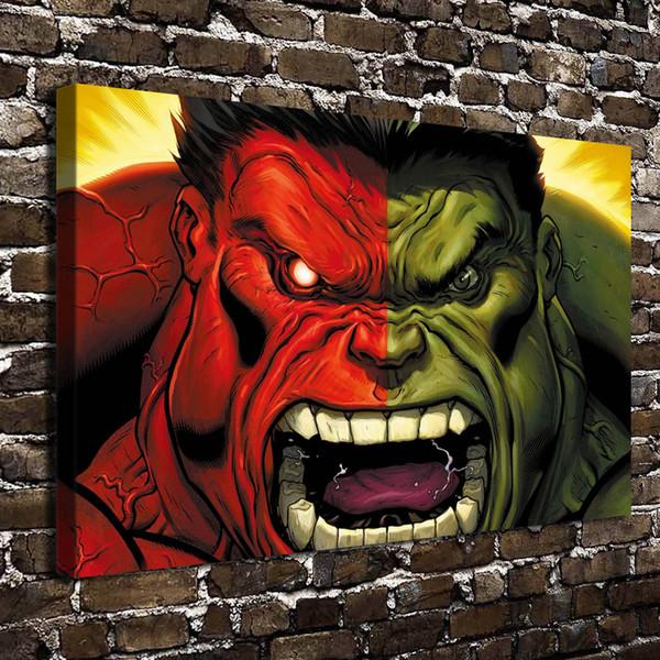 Marvel Hulk,1 Pieces Canvas Prints Wall Art Oil Painting Home Decor (Unframed/Framed) 24X36.