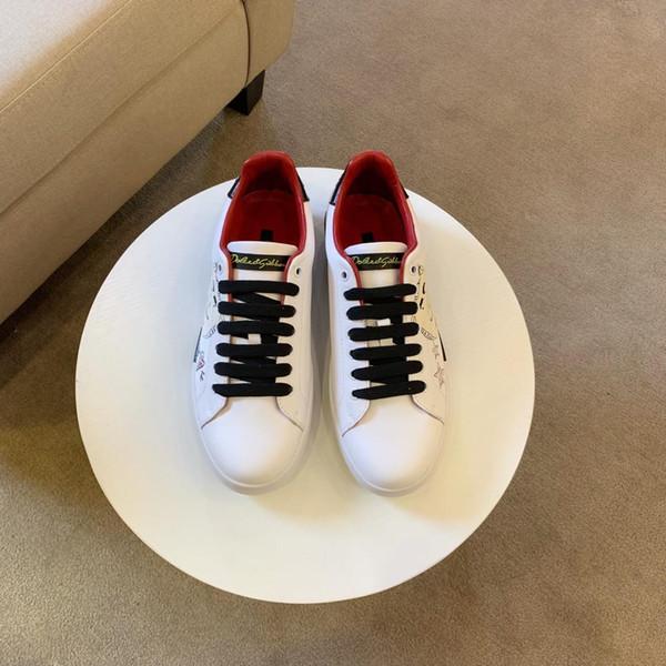 2019 Top Quality FD designer de luxo sapatilha sapatos de couro genuíno presente mens racer venda quente sports casual designer de tênis
