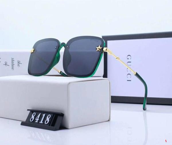 Gafas de sol de diseñador Gafas de sol de lujo Gafas de marca de moda Gafas G8418 para mujer Hombres Adumbral UV400 con caja y logotipo Little Bee de alta calidad