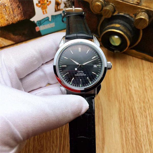 2019 Luxury Wristwatch Brown Black Leather Fashion Mechanical Men's Stainless Steel Big Bang Automatic Movement Watch Self-wind VK Dress Wri