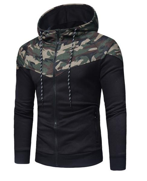 En sıcak satış Ceketler Erkekler 2019 Rahat Mont Erkek Ceket Ceket Dış Giyim Kazak Bahar Ince Ceket Hoodie Sıcak Kapüşonlu Kazak Damla Nakliye