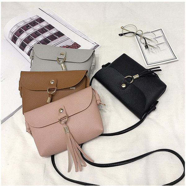 Cheap HB@Fashion able Bag Vintage Handbag Small Mini Messenger Tassel Shoulder Bags