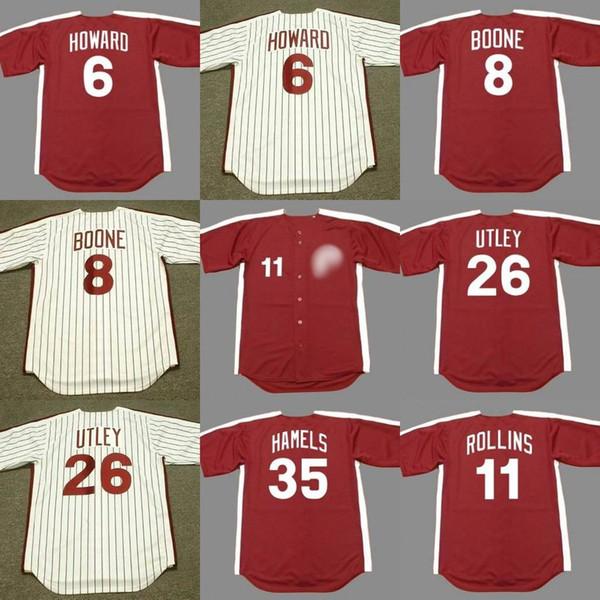 new arrival d9ee8 daefa 2019 Phillies Men 8 BOB BOONE 26 CHASE UTLEY 11 JIMMY ROLLINS 35 COLE  HAMELS Philadelphia 1980 Philadelphia Baseball Jersey From Lzytop001,  $23.21 | ...