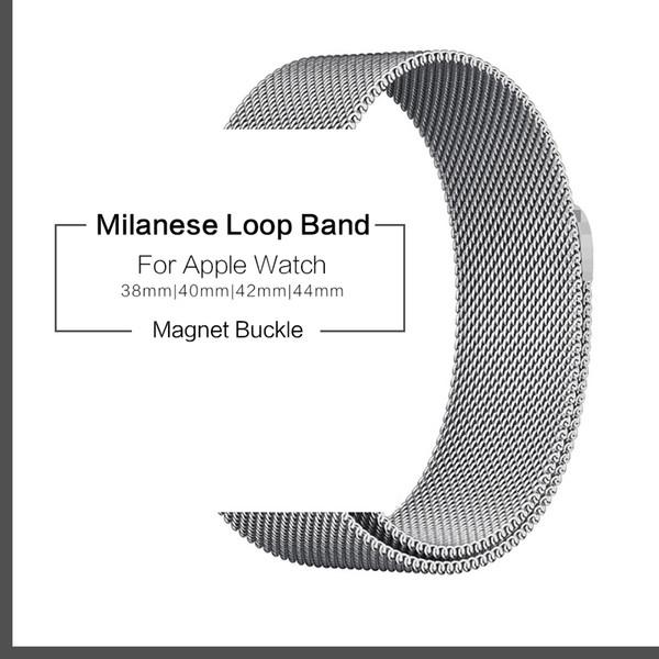 Milanese Loop Belt 1: 1 Armband für Apple Watch Band 38mm 40mm 42mm 44mm iwatch Serie 1 2 3 4 Armband Edelstahlgürtel