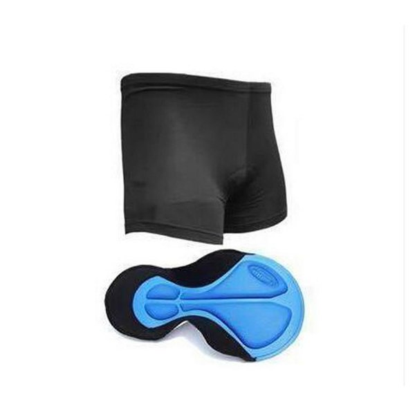 Men Casual Solid Elastic Cycling Shorts Summer Black Waist Breathable Bicycle Underwear With Pad