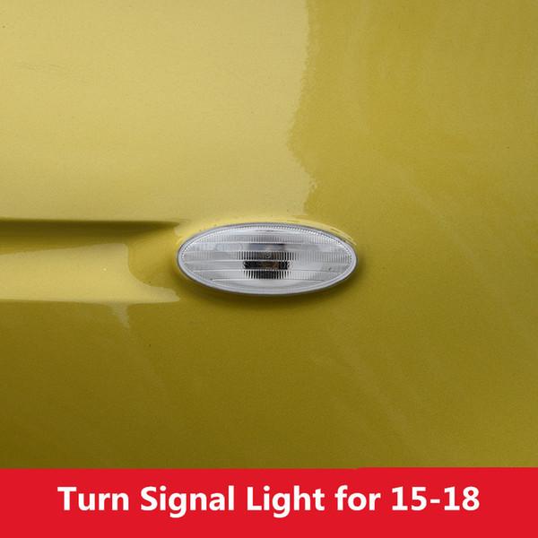 Luz blanca de la señal de giro del guardabarros del ala de la placa lateral del coche sin el bulbo para Smart fortwo forfour 2015 2016 2016 2018