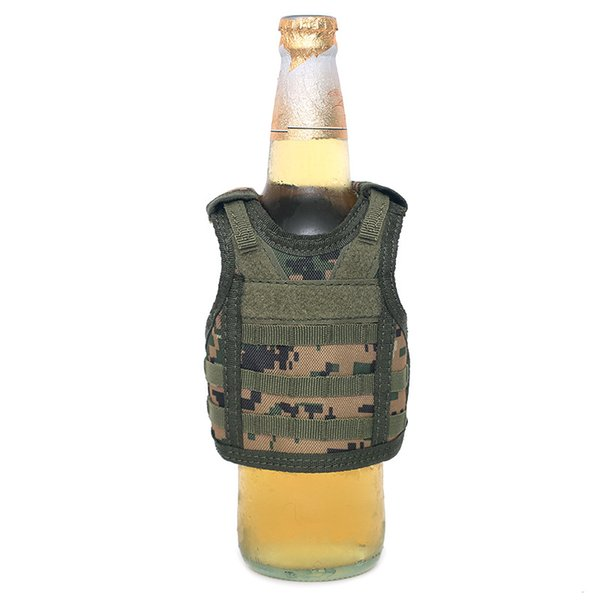 Bottle Vest Holder Outdoors Beer Miniature Sleeve Sleeveless Ornament Mini Individuality oxford Cloth Small Waistcoat Cover13zj p1