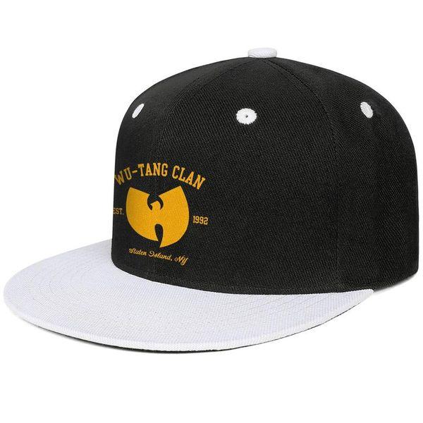 Wu Tang Clan Est 1992 yellow Design Hip-Hop Caps Snapback Flat Bill Brim Baseball Hats Classic Adjustable