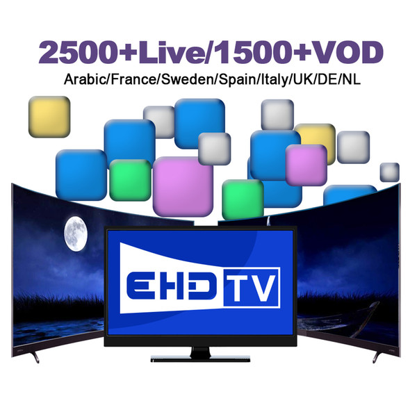 EHD TV Europe Iptv Subscription Support Android TV Box Smart TV Mag 250 M3u  VLC Player For France UK Italy Germany Spain Tv Box Xbmc Box Tv Live From