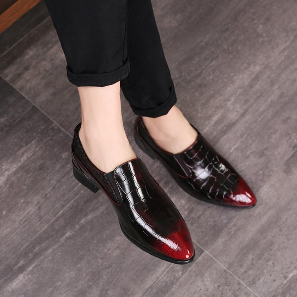 Erkekler Elbise Deri Ayakkabı El Yapımı Marka Tasarımcı Parti Düğün Üzerinde Kayma Lüks Lüks Rahat Erkek Brogue Ayakkabı Büyük Boy 38-48