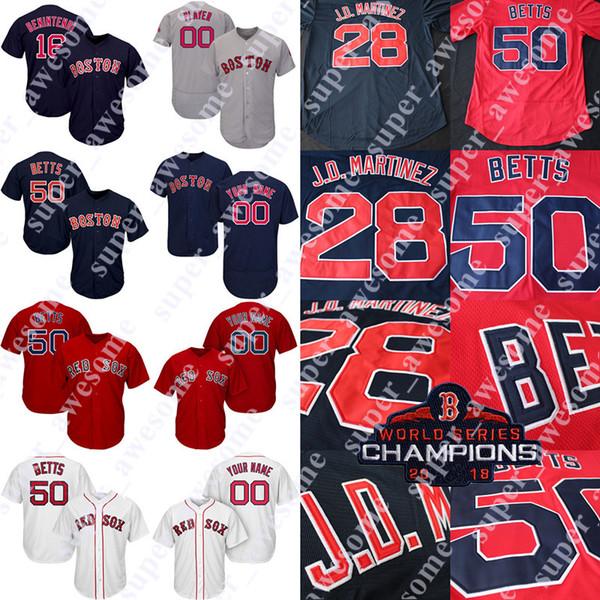 quality design a4ab9 f0cee 2019 Boston Red Sox Jersey Mookie Betts Nathan Eovaldi Chris Sale Xander  Bogaerts Andrew Benintendi J.D. Martinez David Price Ortiz Ted Williams  From ...