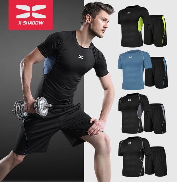 Compre Medias De Traje Deportivo Para Hombre, Manga Larga, Manga Corta, Camiseta De Fitness Para Hombre, Pantalones Cortos, Sistema Super Elastic PRO