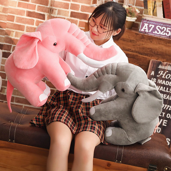 kawaii elephant plush toy doll elephant long nose soothing doll baby child pillow doll gift decoration DY50621