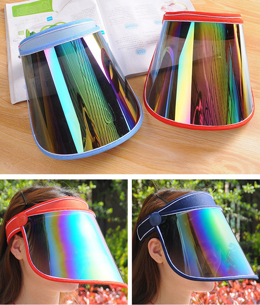 top popular Cap Wholesale Visors For Car Anti UV Light Cap PC Sun Hat Colorful Board To Ride Sun Visors BD0042 2020