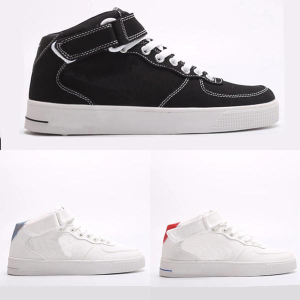 New One Mode Chaussures plates Casual Simple Velcro toile respirant Outdoor hommes et des femmes mi-Top Sport Chaussures de skate EUR 36-44