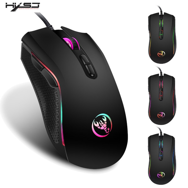HXSJ 3200DPI 7 Кнопки 7 цветов LED Optical USB Проводная мышь Gamer Мыши компьютерные Мыши мыши Gaming Для Pro Gamer