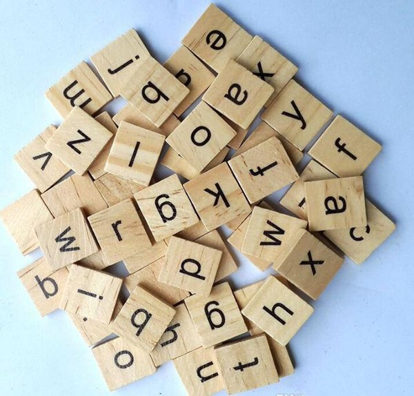 Alphabet En Bois Tuiles De Scrabble Noir Lettres Chiffres Pour Artisanat Jouets En Bois pour Bébé chaud Interactif Éducatif Éducatif Jouet Lettre De Mode