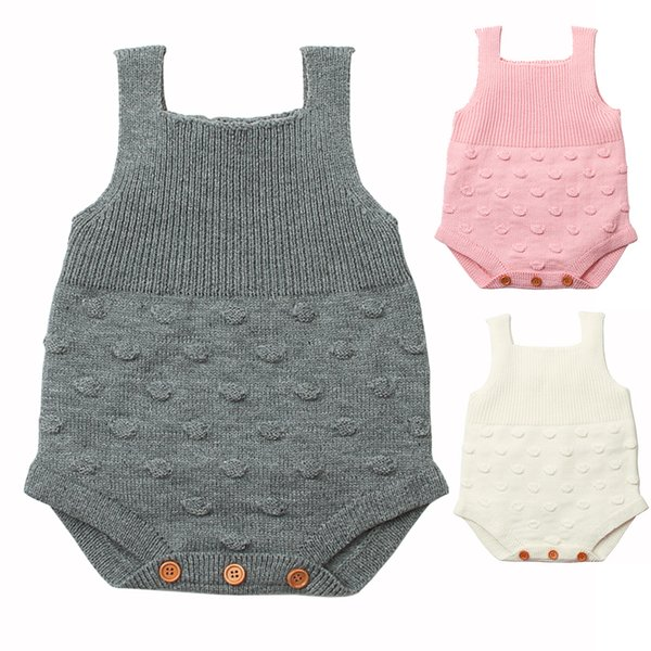 Christmas Knitted Baby Bodysuit Newborn Infant Toddler Hot Summer Body Child Kids for Boys Girls B0028 Body Suit Sleeveless 3 Colors