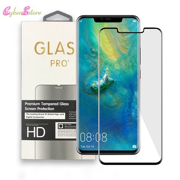 For Huawei Mate 20 Pro Screen Protector Premium Crystal Tempered Glass Bubble Free Anti Scratch Protective Film HD Clear 3D Touch Edge Glue