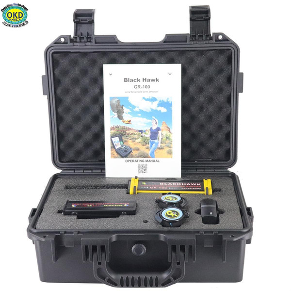 Quality Goods GR100 Audible and Visual Alarm USA Technology Long Range Gold Silver Gem Diamond Underground Metal Detector Sell to the World
