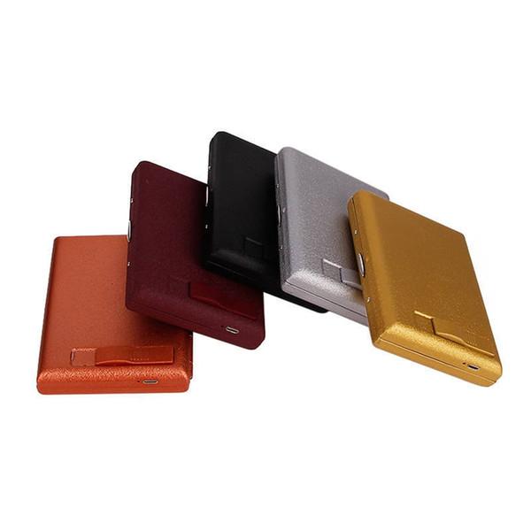 Altri colori Scatole per sigarette glassate di metallo Scatole di immagazzinaggio per involucri di Shell Componentistica esclusiva Accendino USB di ricarica elettronico portatile