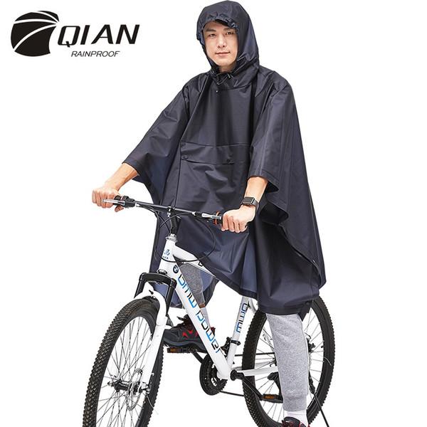QIAN impermeabile impermeabile impermeabile eco-friendly tpu bicicletta giacca impermeabile per le donne / uomini escursionismo pioggia marcia cappotto degli uomini # 220040