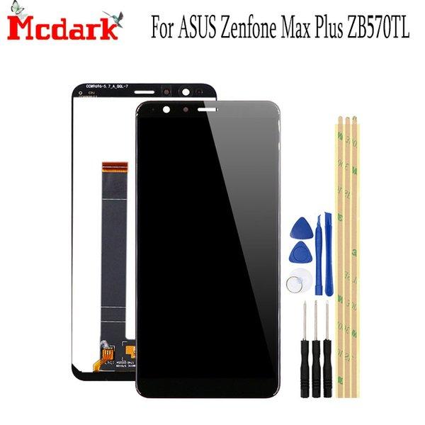5.7 inç ASUS Zenfone Max Artı ZB570TL Için Yedek Aksesuarlar LCD Ekran + Dokunmatik Ekran ile Araçları ile ASUS ZB570TL X018DC