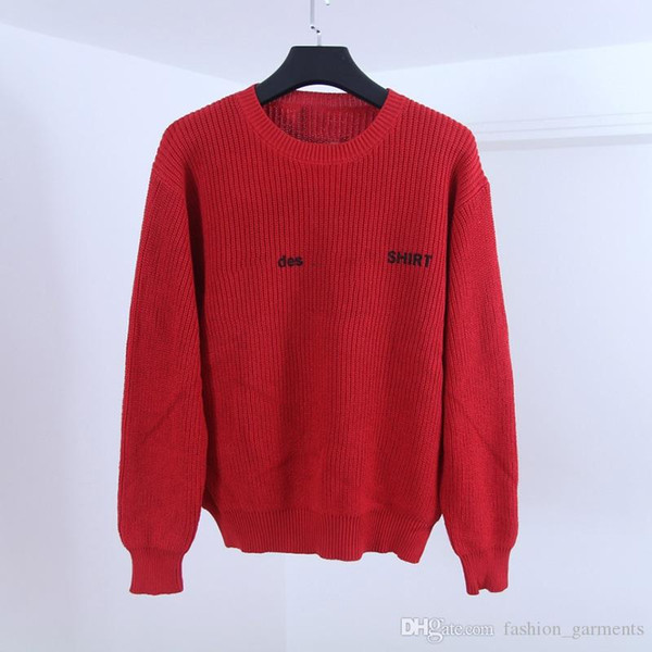top popular 2019 Box Logo Mens Designer Sweaters Famous Brand High Quality Sweaters Hoodie Fashion Men Women Round Neck Long Sleeves 3 Colors S--XL 2020