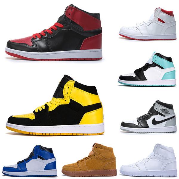 2018 Nouvelle Arrivée De Mode Casual 1 I OG Haute Blanc Noir Rouge Casual Chaussures De Basket-ball Hommes De Mode luxe hommes Femmes Designer Sandales Chaussures
