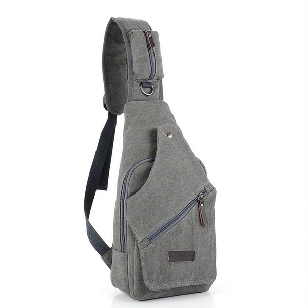 New Chest Pack Canvas Bags For Men Chest Sling Pack One Single Shoulder Man Travel By Walking Military Messenger Bag