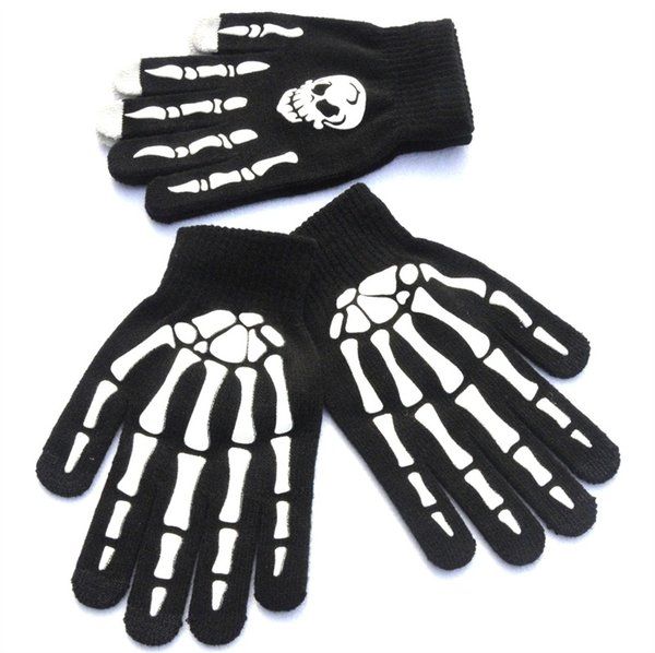 top popular Knitted Gloves Write Nonslip Skull Ghost Claw Printing Glove Outdoors Riding Keep Warm Camping Equipment Touch Screen 2 65qs N1 2021