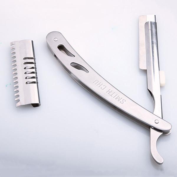 Knife Men Comfortable Silver Manual Shaver Razors Stainless Steel Professional Unisex Portable Razor Sharp Durable Haircut DH0849