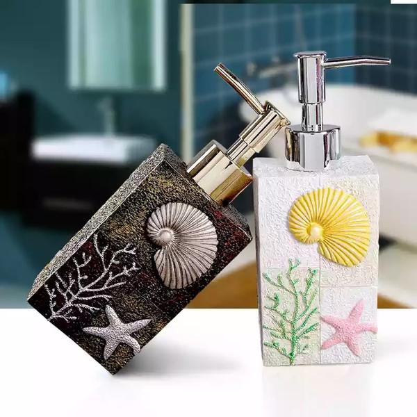 Роскошный дозатор жидкого мыла ручной дозатор жидкого мыла Dspenser набор для ванной комнаты S159