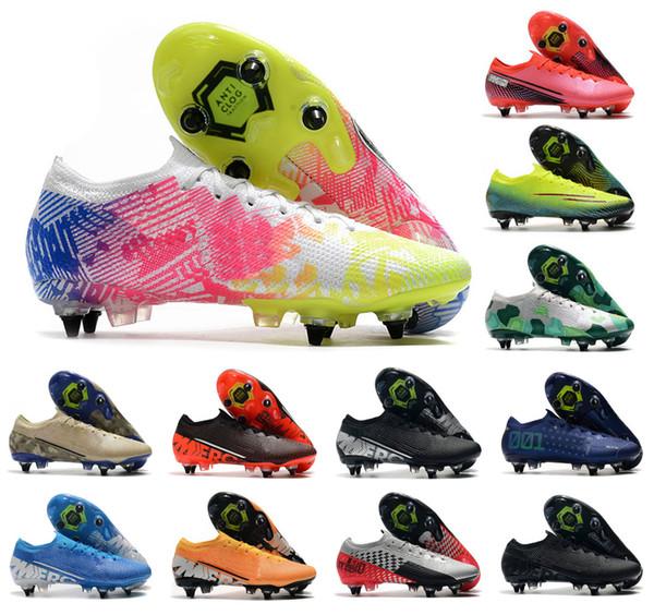 best selling 2020 Mens Mercurial Vapors 13 XIII Elite SG-PRO AC CR7 Ronaldo NJR Neymar Jr. Women Boys Soccer Shoes Football Boots Cleats US6.5-11
