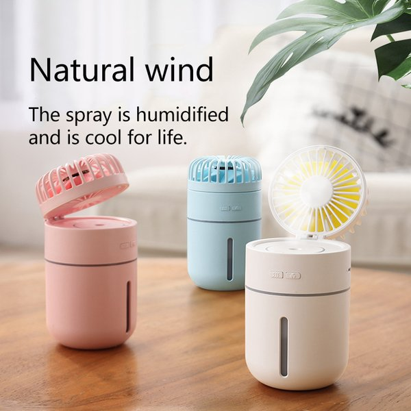 Spray Humidifier Fan night light 3 in 1 Handheld Portable USB Mini Fans Essential Oil Diffuser Mute Summer Air Conditioning Cool