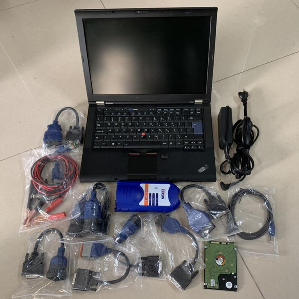 heavy duty truck diagnostic laptop t410 i5 4g nexiq2 usb link 125032 cables full set diesel truck scanner