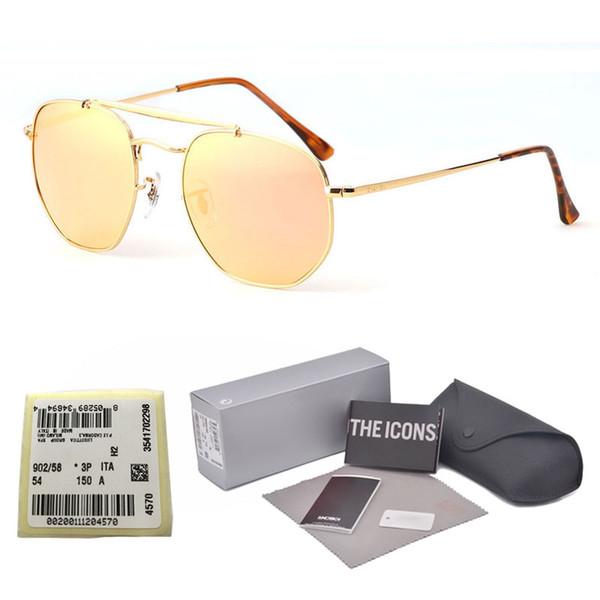 New Top Luxury Brand Designer Ladies Oversized vintage Square Sunglasses Women men gradient Mirror Sun Glasses For Female with box and label