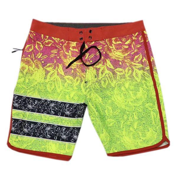 top popular NEW FASHION Beachshorts Mens Bermudas Shorts Elastane Spandex Boardshorts Swim Trunks Plus Size Surf Pants Board Shorts Male Casual Shorts 2019